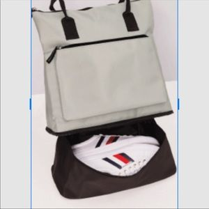 DSW gray back pack with shoe compartment